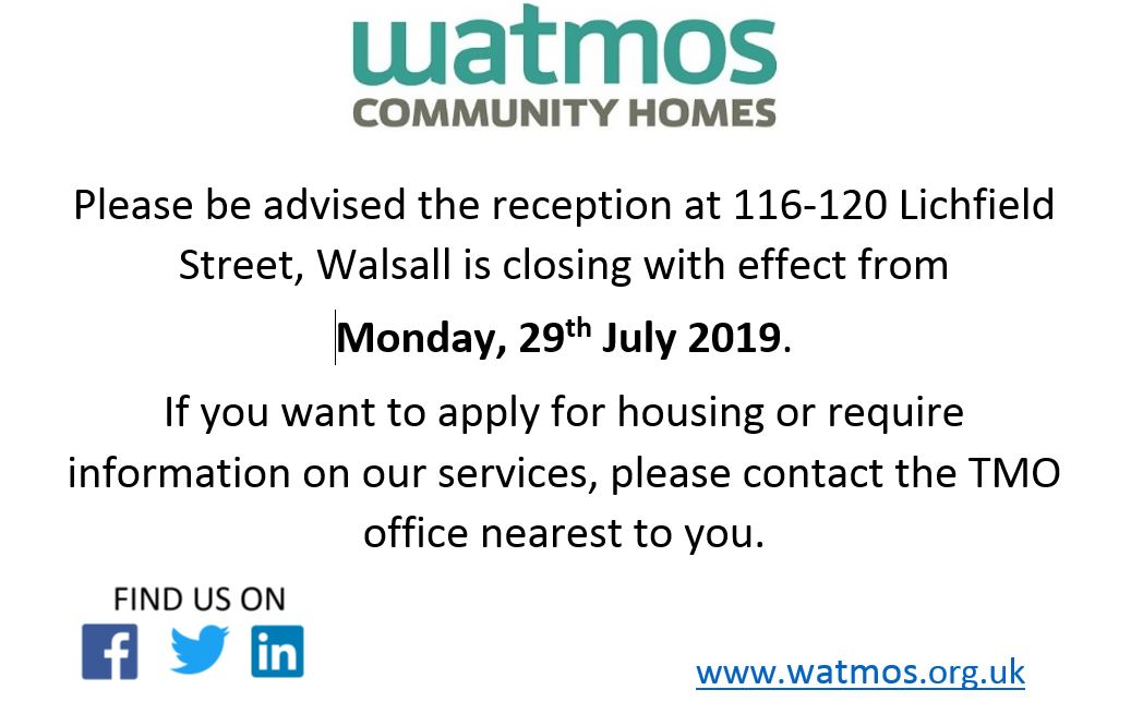 Reception is closing in Walsall